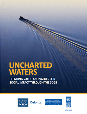 Uncharted waters examines how the private sector can move beyond philanthropy and corporate social responsibility to more meaningfully contribute to the SDGs.