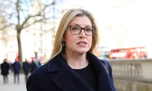 Penny Mordaunt arrives at the Cabinet Office, London