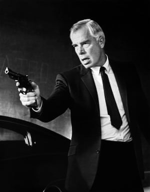 Lee Marvin in Point Blank: driven single-handedly by vengeance.
