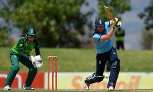 Jonny Bairstow on his way to a century from 83 balls in the warm-up match against a South Africa Invitation XI in Paarl.