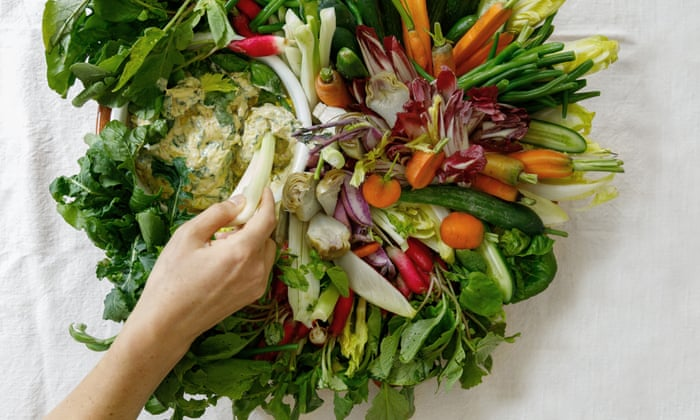 Not all about offal: this St Johns-inspired bouquet of raw and cooked veg with an anchovy dressing is still on the Anchor & Hope menu.