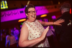 Dancing at the Coming Back Out ball.