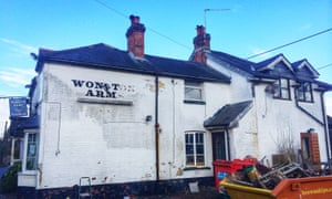 The derelict Wonston Arms