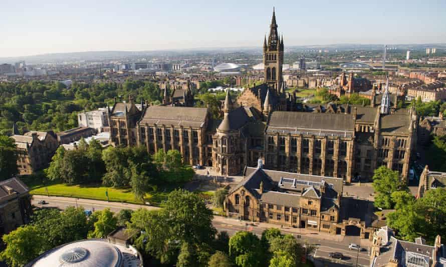 Glasgow University aerial view