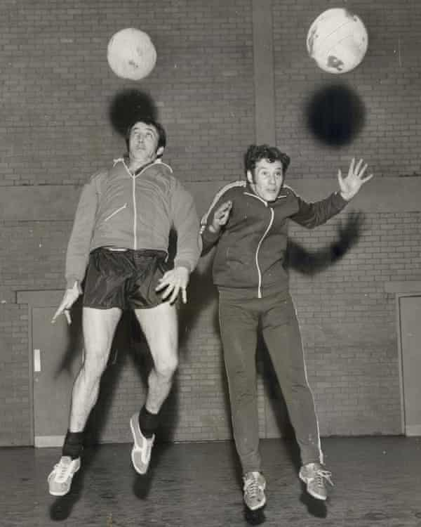 Chris Chilton (left) pictured in 1971. The former Hull City player was diagnosed with Alzheimer's disease and vascular dementia in 2012.