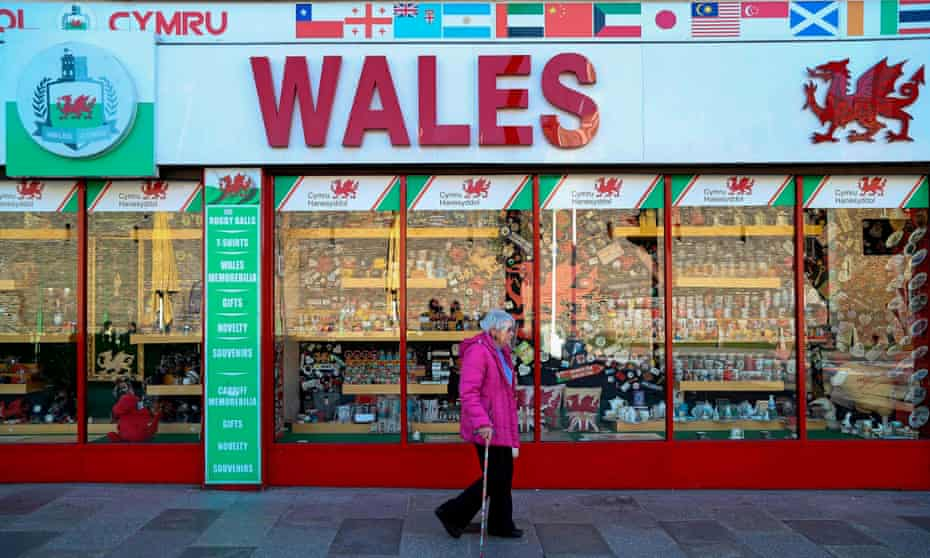 Souvenir shop in Cardiff
