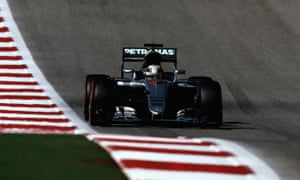 Lewis Hamilton en route to pole for Sunday's US F1 Grand Prix at the Circuit of the Americas in Austin, Texas.