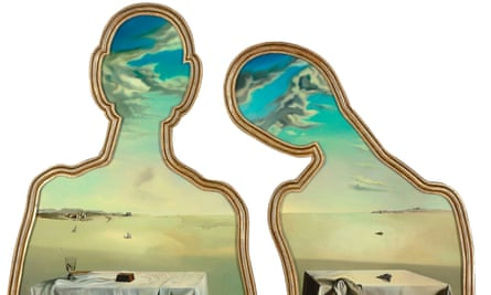 Salvador Dalí's Couple with their Heads Full of Clouds, 1936.