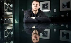 The Aston Villa goalkeeper, Sam Johnstone, on loan from Manchester United