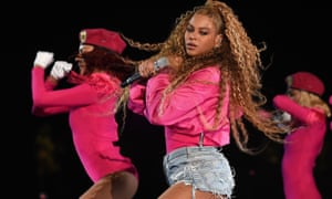 Beyoncé performs at the Coachella festival in California