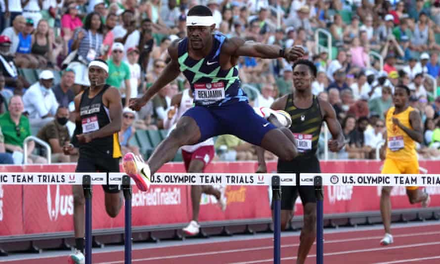 Rai Benjamin is one of the fastest 400m hurdlers in history