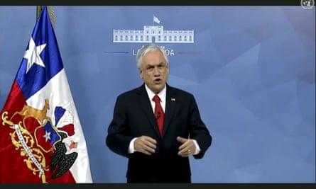 The president of Chile, Sebastián Piñera.
