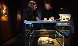 The fatberg exhibition at the Museum of London.