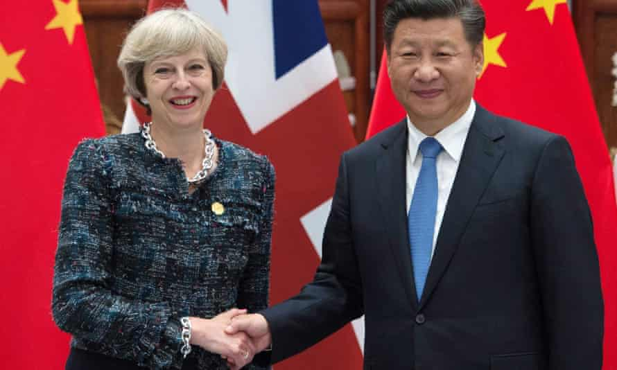 Theresa May holds a meeting with Chinese president Xi Jinping