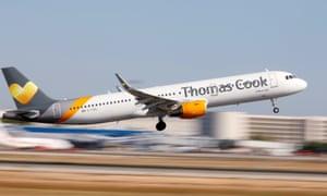 Thomas Cook Airbus A321 airplane takes off