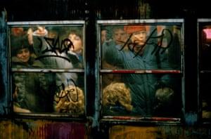 Subway at rush hour, 1982