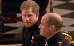 Prince Harry and Prince William chat before the ceremony