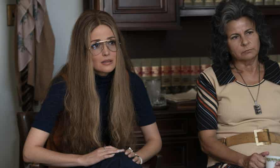 Rose Byrne as Gloria Steinem, left, and Tracey Ullman as Betty Friedan in a scene from Mrs America