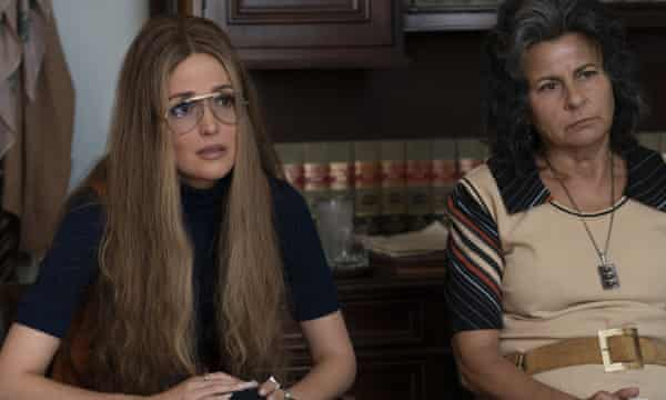 Rose Byrne with Tracey Ullman in Mrs America.
