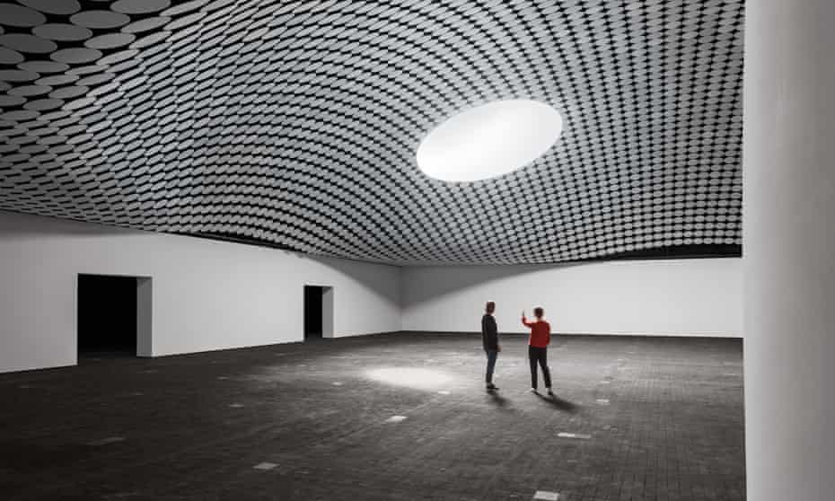 The museum's sprawling hangar.