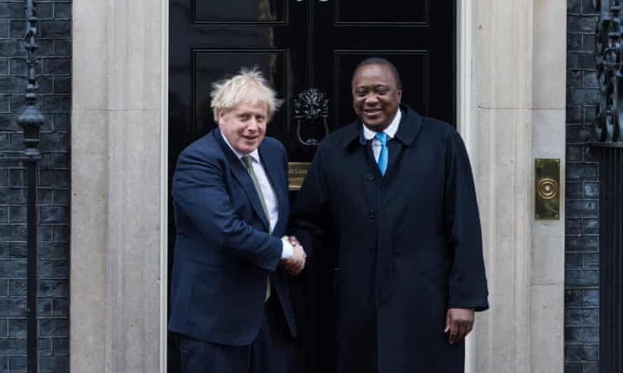 Uhuru Kenyatta and Boris Johnson