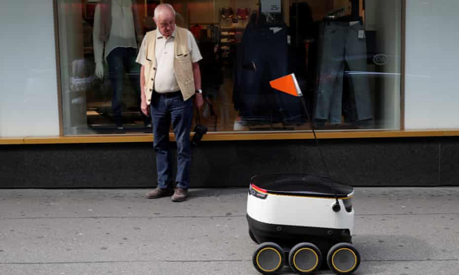 Swiss Post introduced a self-driving delivery robot in Zurich this month. Distribution jobs were among those predicted to be at risk from the growth of automation.