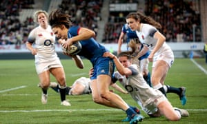 France against England in the Women's Six Nations Championship