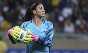 Hope Solo won more than 200 caps for the United States