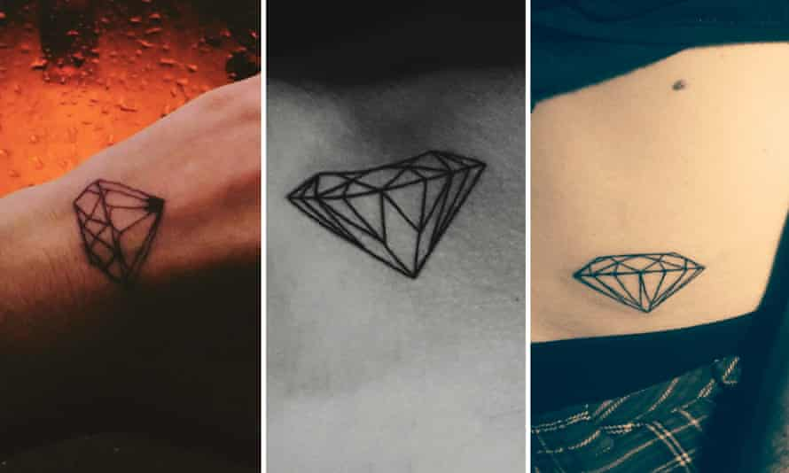 Similar tattoo designs of a diamond.