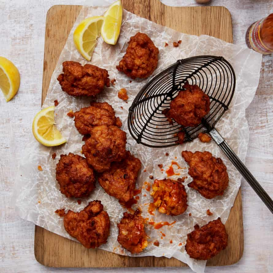 Yotam Ottolenghi's prawn and rice fritters.