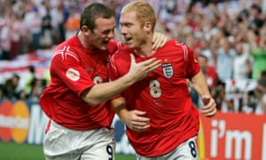 Wayne Rooney and Paul Scholes were ahead of the rest of his England team-mates at the time, says Gareth Southgate.
