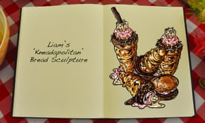 Liam's Kneadapolitan Bread Sculpture, an illustration for the Great British Bake Off creation by Tom Hove.
