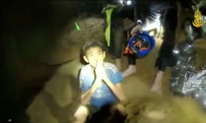 The boys are still trapped in the cave, but now have food, blankets and are being kept company by Thai Navy SEALs.