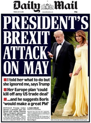 Mail front page, Friday 13 July