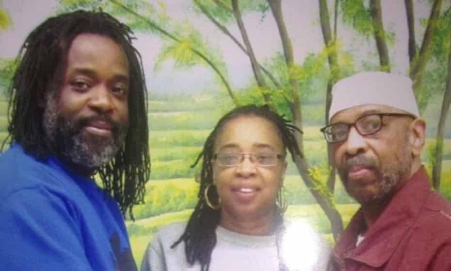 Russell Shoatz III and Sharon Shoatz with their father Russell 'Maroon' Shoatz after he was released from solitary confinement into general population.