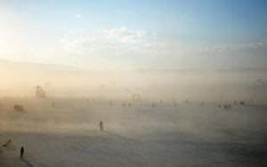 Burning Man takes place at Black Rock City, a temporary city erected in the Black Rock Desert in Nevada