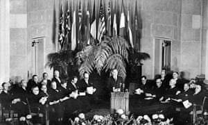signing ceremony in Washington that created the North Atlantic Treaty Organisation in April 1949.