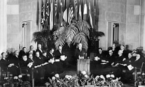 North Atlantic Treaty official signing, Washington, 4 April 1949.