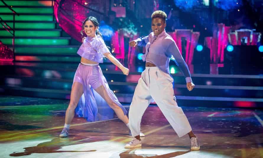 Katya Jones (l) and Nicola Adams  performing on Strictly Come Dancing on Saturday 31 October.