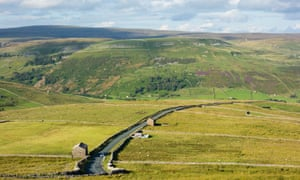 View over Buttertubs pass in The Yorkshire Dales.