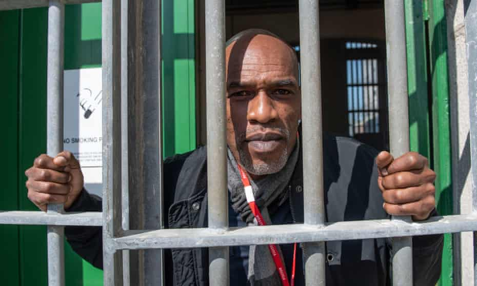 Chris Lewis outside HMP Portland, where the play inspired by his fall from grace was performed for the first time