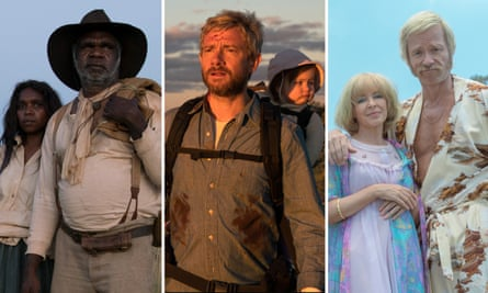 Film stills from Sweet Country, Cargo and Swinging Safari