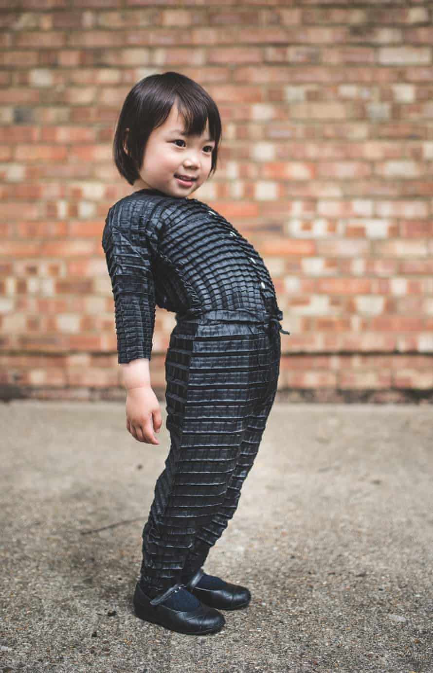The clothes are made to stretch to fit children