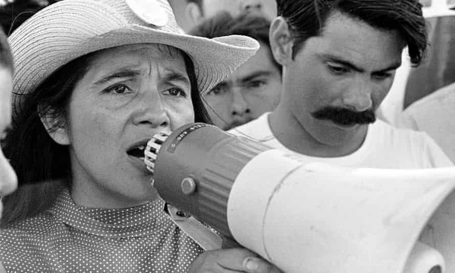 Loud and proud: labour activist Dolores Huerta.
