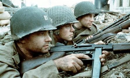 Tom Hanks, Matt Damon and Ed Burns in Saving Private Ryan.