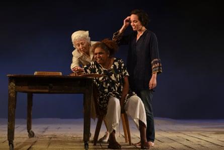 Melissa Jaffer, Ningali Lawford-Wolf and Jada Alberts