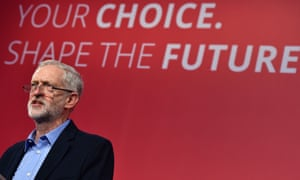 Jeremy Corbyn speaks to the audience after being announced as the new leader of Britain's opposition Labour party