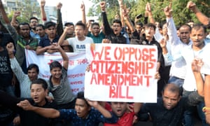 Protesters against the bill