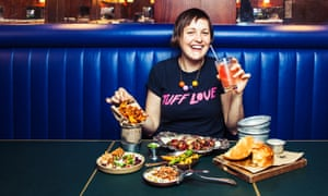 Josie Long photographed at the Palomar restaurant, W1