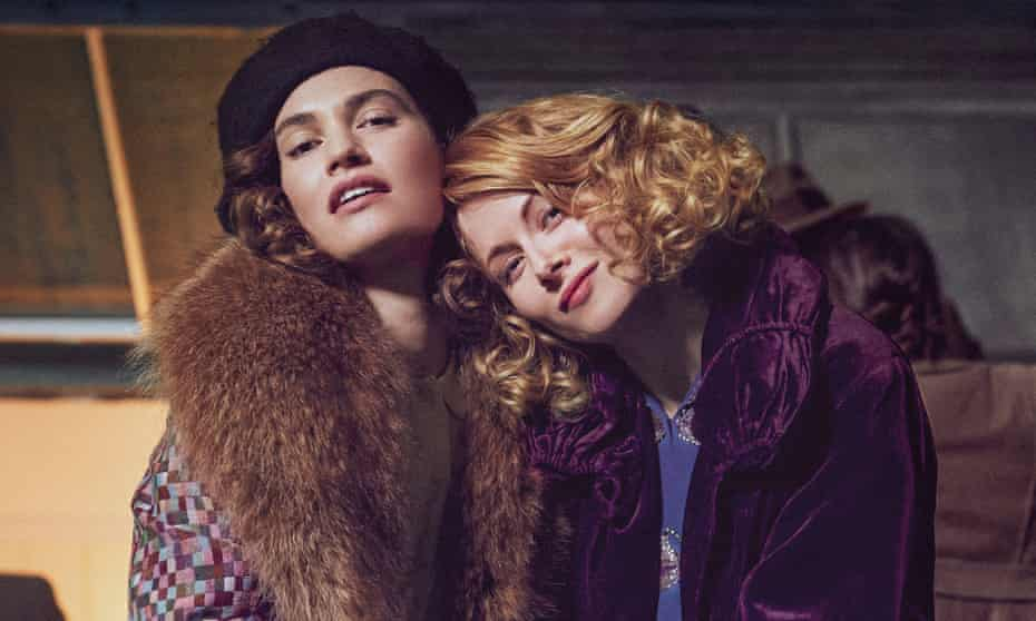 Lily James as Linda and Emily Beecham as Fanny in the BBC's The Pursuit of Love.